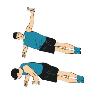 Side-Plank-with-Oblique-Twist-left-arm-a-light-dumbell-300x300